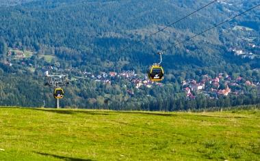 Panorama Świeradowa z gondolami