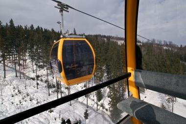 Widzę wagonik z wagonika Ski&Sun