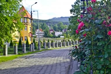 Kwieciste ulice uzdrowiska