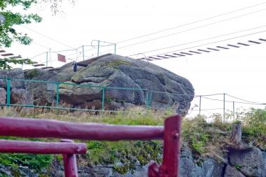 Linowe mosty na Kruczych Skałach