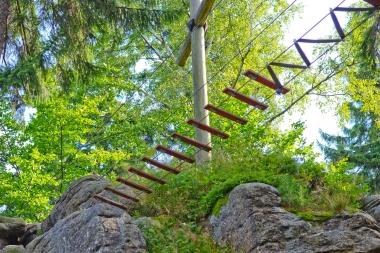 Most linowy w parku