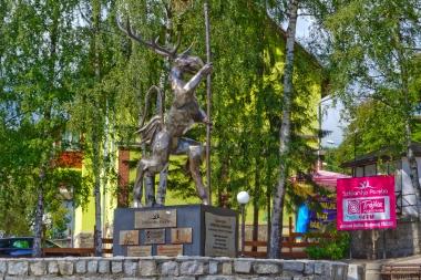 Pomnik Liczyrzepy w skwerze radiowej trójki