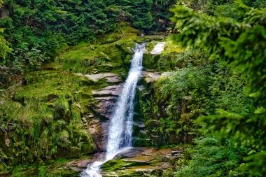 Górny odcinek wodospadu Kamienczyka