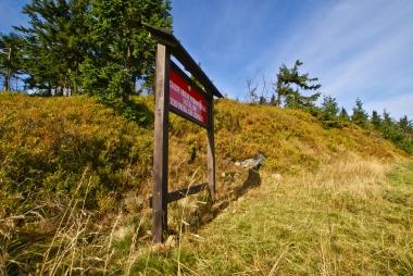 Przy tablicy Natura 2000