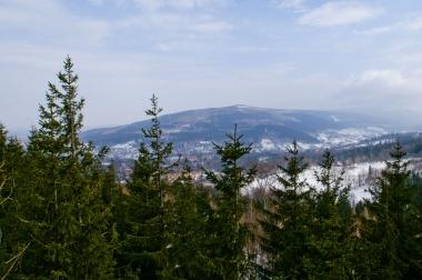 Czeskie góry z kolei gondolowej