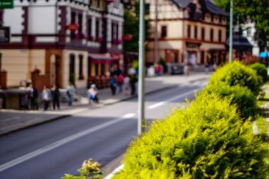 Ulica pełna turystów