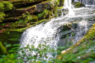 Górny fragment wodospadu Szklarki