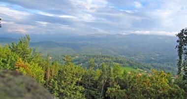 Panorama Pogórza Karkonoskiego